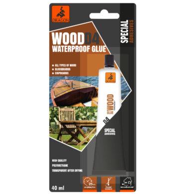 DRAGON Wood WATERPROOF glue D4 40ml vodotěsné na dřevo(DKDD4040_BL_INT1)