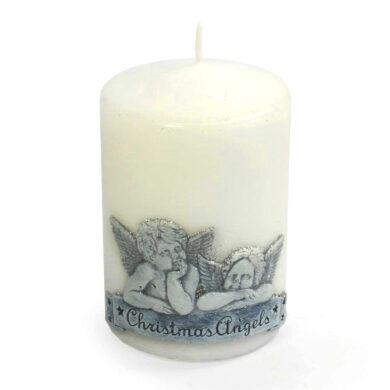 Svíčka vánoční Angel 80x120 bílá(FS-89319)