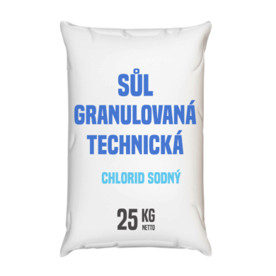 Granulovaná sůl technická, chlorid sodný 25 kg(GSCZ-025)