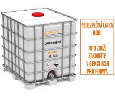 Louh sodný, hydroxid sodný (vodný roztok 49 - 51%), IBC kontejner 1150 kg(KC-00004R)