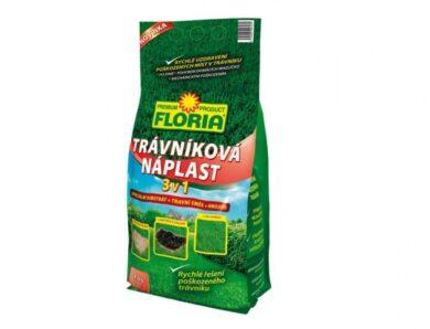 Náplast trávníková 3v1 - substrát + travní směs + hnojivo Floria 1 kg(NG-9710ag)