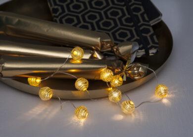 Světelný řetěz Dew Drop zlatý(ST728-10)