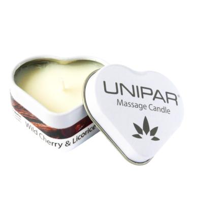 Masážní vonná svíčka Cherry/Licorice Tin Unipar(UNI-0003)