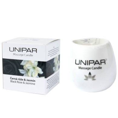 Masážní svíčka Black roses/Jasmin Ceramic Unipar(UNI-0008)