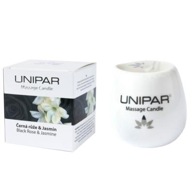 Masážní svíčka Black roses/Jasmin Ceramic Unipar 85 ml(UNI-0008)