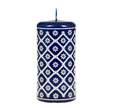 Svíčka s motivem z Valašska - modrá 60x120 Unipar(UNI-0014)