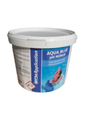 Aqua Blue pH Mínus - pro snížení pH bazénové vody 7,5 kg-Aqua Blue pH Mínus je rychlorozpustný granulovaný přípravek pro snižování hodnoty pH bazénové vody. pH mínus se vyznačuje jednoduchým dávkováním a okamžitou účinností.