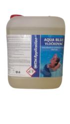 Aqua Blue vločkovač tekutý prostředek k vyvločkování nečistot bazénové vody 5 l-Aqua Blue vločkovač vyvločkuje jemné částečky nečistot tvořící neodfiltrovanou suspenzi - zákal vody. Umožní dokonalé vysrážení těchto nečistot do větších vloček a jejich následné odfiltrování nebo sedimentaci a dodá vodě žádanou jiskru jako u pramenité vody. Reaguje velmi rychle, nezávisle na teplotě vody. Zlepšuje účinnost filtrace, pomáhá prodlužovat životnost pískové náplně.