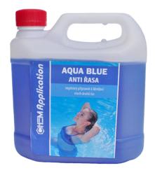 Aqua Blue Antiřasa - přípravek proti tvorbě a růstu řas 3 l-Aqua Blue Antiřasa ničí všechny druhy řas vyskytujicích se v bazénech. Je velmi účinný na výskyt zelených řas v bazénu. Má výrazné bakteristatické a baktericidní účinky proti širokému spektru mikroorganismů. Přípravek také účinně omezuje výskyt šlemu ve filtračních zařízení a zvyšuje jeho účinnost. Díky svému složení má dlouhodobé účinky a v bazénové vodě se odbourává pomalu.