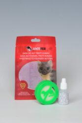 Antifer - aplikátor s magnetem proti kunám-Antifer - plastový aplikátor s magnety ochrání vaše vozidlo i pozemek, půdu, sklep a nebo slepice před nebezpečnou kunou a není škodlivý pro domácí mazlíčky. Produkt je charakteristický svým jedinečným složením několika pachů, díky kterému lze předejít nežádoucímu poškození kabeláže a textilních prvků v automobilech, které způsobují hlodavci a kuny. Přípravek je netoxický.