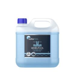 Guasan whirlpool 3 l - bezchlórová chemie pro vířivky-WHIRLPOOL chemie pro vířivky 3l je tekutý, koncentrovaný přípravek pro dezinfekci a hygienické zabezpečení vody ve venkovních a vnitřních, klasických i přenosných vířivkách - whirlpoolech. Má výrazný a dlouhodobý účinek proti mikroorganismům a řasám. Je vhodný i pro profesionální použití.