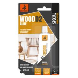 DRAGON Wood glue D2 20ml lepidlo na dřevo-Vysoce kvalitní, jednosložkové, na bázi disperze polyvinylacetátu. Bez organických rozpouštědel. Třída odolnosti proti vodě: D2. Bezbarvé po zaschnutí. Použití v interiéru. Doba tuhnutí: Odolné proti vlhkosti. Vysoce kvalitní. Bez rozpouštědel.