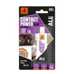 DRAGON All in one CONTACT POWER univerzální kontaktní gelové lepidlo 20 ml-Univerzální kontaktní gelové lepidlo bezbarvé, flexibilní, vodotěsné a vytváří extra silný spoj.  Aplikace: určeno pro lepení gumy, přírodní a umělé kůže, textilu, plsti, keramiky, skla, dřeva, korku, papíru atd.