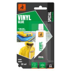 DRAGON Vinyl glue 20ml na měkké plasty-Bezbarvé, odolnost spáry vůči teplotě: -20 ° C až +80 ° C, polyuretan, velmi pevné, vodotěsné.  Aplikace: Určené pro lepení měkkého PVC a umělé kůže a pro opravy pontonů, matrací, bazénů, deštníků z PVC, stanů, opasků, sprchových závěsů atd.