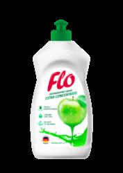 FLO přípravek na mytí nádobí  GREEN APPLE 500 ml-Koncentrovaný tekutý přípravek na mytí nádobí Flo Green Apple dokonale odstraňuje mastnotu a další nečistoty z nádobí.