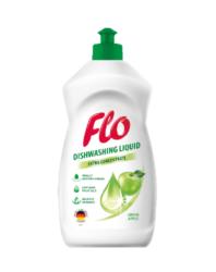 FLO přípravek na mytí nádobí  GREEN APPLE 450 ml-Koncentrovaný tekutý přípravek na mytí nádobí Flo Green Apple dokonale odstraňuje mastnotu a další nečistoty z nádobí.