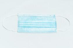 Ústenka s gumičkou 3 -vrstvá (rouška) modrá 50 ks(GEN50)