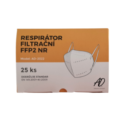 RESPIRÁTOR AD-2022 FFP2, 25 ks