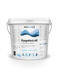 Distripark Koupelová magneziová sůl 4 kg-Regenerační magneziová sůl do koupele zmírňuje únavu svalů a tímto navozuje pocit uvolnění po náročném pracovním a stresujícím dni. Obsahuje 47% chlorid hořečnatý.   regeneruje po náročném tréninku nebo stresu v práci uvolňuje svaly a mysl zrelaxuje celé tělo  Koupelovou magneziovou sůl je možné zakoupit i v 8kg balení