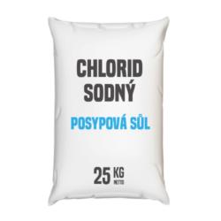 Posypová sůl - chlorid sodný 25 kg-Posypová sůl - chlorid sodný 25 kg Používání kamenné soli je nejrozšířenější způsob údržby komunikací, chodníků a náměstí v zimním období. Sůl je balená v 25kg pytlích po 40 ks na paletě. Námi nabízená sůl obsahuje protihrudkující látku.  Posypová sůl - chlorid sodný je dostupný v baleních: 5 kg 10 kg 25 kg 300 kg 1000 kg