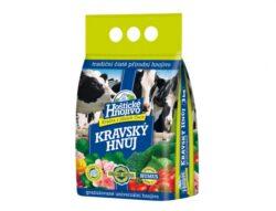 Hnůj kravský HOŠTICKÝ 3 kg-Kravský hnůj je čistě přírodní, organické hnojivo. Hodí se nejen pro univerzální použití v celé zahradě pro květiny a okrasné rostliny, ale obzvláště pro zdravou výživu ovoce a zeleniny.