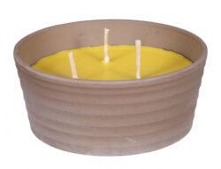 Svíčka CITRONELLA SIRIUS 3knoty+žardinka 850g d18x7cm