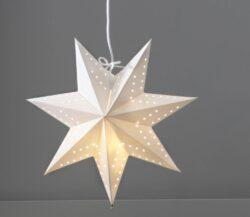 Papírová hvězda Bobo-Závěsná hvězda s LED žárovkou je spojena především s Vánoci, ale při správném použití v interiéru může být i celoroční ozdobou. Závěsné hvězdy podobné origami mohou představovat klasický, minimalistický, skandinávský nebo i rustikální styl.  Balení neobsahuje LED žárovky.