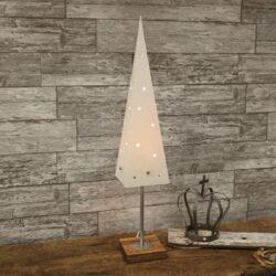 Dekorace Top-Stolní lampa 60 cm vysoká ve tvaru kuželového vánočního stromku s dřevěným podstavcem. Jednochý skandinávský styl v kombinaci s elegantními prvky, dodá vašemu interiéru nebývalou krásu.