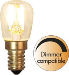 LED žárovka E14 ST26 Soft Glow-Žárovka s paticí E14 a teplou bílou svítivostí. Je kompatibilní se stmívačem pro ještě jemnější světlo.