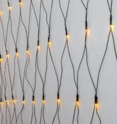 Světelná síť Golden Warm White 200 LED 300 cm x 300 cm-Světelný řetěz ve tvaru sítě s 200 teplými bílými LED žárovkami, které vytvoří krásné jemné světlem. Velikost sítě je 3x3m. Ideální pro dekoraci na vaší zahradě.