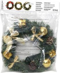 Věnec Decorage zlatý(ST601-15)