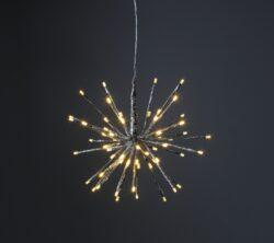 Venkovní dekorace Firework průměr 30 cm, 64 LED-Venkovní dekorace ve tvaru ohňostroje FIREWORK. Barva světla: teplá bílá. Dekorace přizpůsobená povětrnostním podmínkám: IP44.