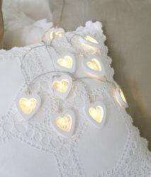 Světelný řetěz Woodworks Srdce(ST728-40)