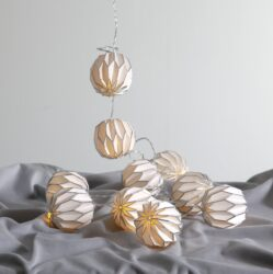 Světelný řetěz Origam-Světelný řetěz s LED diodami, který lze používat po celý rok. Může být jak vánoční ozdobou tak i celoroční ozdobou domova, zahrady, restaurace či svatební síně.
