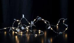 Světelný řetěz Dew Drop Listy-Dekorativní řetízek DEW DROP, který bude skvělou ozdobou stolu, komody nebo poličky nebo při jakékoliv oslavě během celého roku, vhodné i pro použití při oslavě Valentýna.  Tenké dráty s mikroledy, které atraktivně a jemně září, vytvářejí teplou a příjemnou atmosféru. Moderní dekorativní řetízky DEW DROP - kapka rosy.