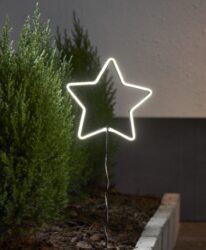 Venkovní dekorace Neonstar 22 cm x 60 cm-Hvězda je vyrobena v technologii NEON LED. Výhodou této technologie je, že LED diody jsou neviditelné a světlo je rovnoměrně rozloženo. Baterie napájená dekorace s funkcí časovače. Přizpůsobeno vnějším podmínkám: IP44.