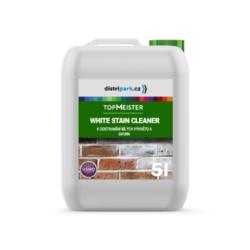 TopMeister Whitestain Cleaner - 5l - odstraňovač bílých výkvětů-TopMeister WHITESTAIN CLEANER 5l - k odstranění bílých výkvětů a skvrn  Výrobek k odstraňování bílých výkvětů a usazenin. Připraveno k použití na materiály jako: slínky, přírodní kámen, dlažební kameny, cihly a beton. Produkt odstraňuje bílé skvrny bez poškození povrchu. Rychle a levně odstraníte všechny nečistoty i bílé výkvěty. Lze použít na mnoho druhů materiálů. Vysoce efektivní při používání na: ·Povrchy z porézního materiálu ·Fasády ·Stěny, kamenné a betonové ploty ·Nepoškozuje povrch Dostupné v balení: 1l láhev 5l kanystr