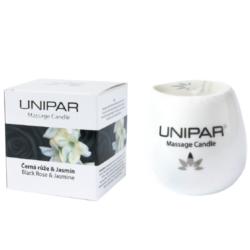 Masážní svíčka Black roses/Jasmin Ceramic Unipar