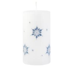 Svíčka Ice Nature White Vánoční 80x150 Unipar