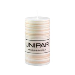 Svíčka Infinity Brown 60x110 Unipar-Ručně vyrobená svíčka vás okouzlí svou originalitou a jedinečností. Jemně hnědé tóny v kombinaci s bílou barvou a ručně strukturovaným povrchem je ideální ozdobou každého interiéru.  Na svíčce je papírový proužek s logem, který je nutné před zapálením svíčky odstranit.  Barva: hnědo-bílá Velikost: střední (60x110 mm) Doba hoření: 40 hodin Tvar: válec