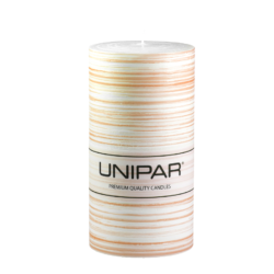 Svíčka Infinity Brown 80x150 Unipar-Ručně vyrobená svíčka vás okouzlí svou originalitou a jedinečností. Jemně hnědé tóny v kombinaci s bílou barvou a ručně strukturovaným povrchem je ideální ozdobou každého interiéru.  Na svíčce je papírový proužek s logem, který je nutné před zapálením svíčky odstranit.  Barva: hnědo-bílá Velikost: velká (80x150 mm) Doba hoření:87 hodin Tvar: válec